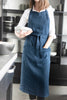 Lovely Home Idea Long full linen apron for women
