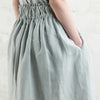 Dove grey linen skirt with pockets