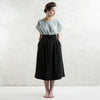 Long black linen skirt by Lovely Home Idea