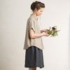 Loose fit linen women's shirt in flax grey