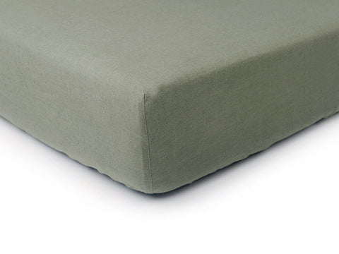 Moss green linen fitted sheet by Lovely Home Idea
