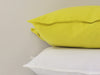Mustard linen accent pillow