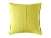 Mustard linen decorative pillow back side