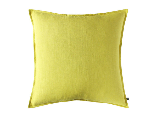 Mustard linen decorative pillow cover by Lovely Home Idea
