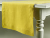 Mustard linen table runner by Lovely Home Idea
