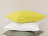 Mustard white and green linen pillows