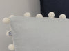 Pom Pom linen pillow cover by Lovely Home Idea