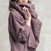 Soft wool shawl wrap Purple