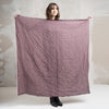 Large wool shawl wrap Purple