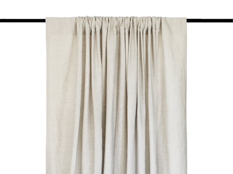Cotton window curtains Rod pocket