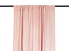 Dusty rose linen curtains Rod pocket top drapes by Lovely Home Idea