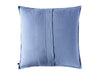 Serenity blue linen pillow cover back side