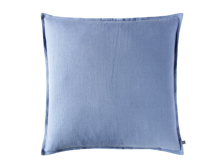 Serenity blue linen pillow cover by Lovely Home Idea