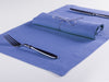 Serenity blue linen table napkin and placemat