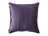 Violet linen throw pillow cover back side