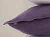 Violet linen cushion detail