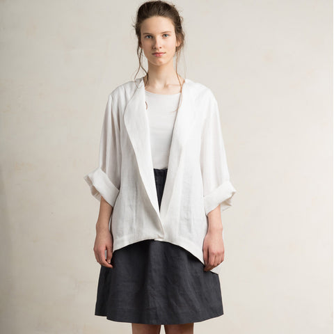 White linen jacket for women