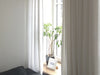 Lovely Home Idea white linen window curtains