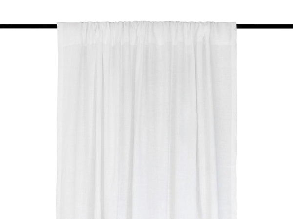 White linen window curtains by Lovely Home Idea