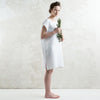 White linen tank dress or tunic