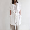 White linen robe by Lovely Home Idea