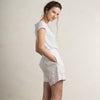 White linen womens shorts
