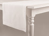 White linen table runner by Lovely Home Idea