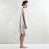 Loose fit linen dress in White