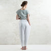 White linen clothing for women