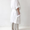 White linen bath robe