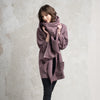 Purple wool wrap scarf by LHI