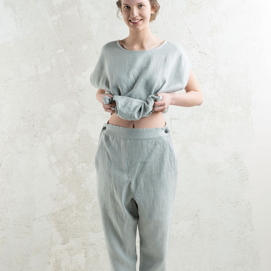 Dove grey linen pants