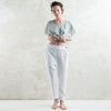 Soft white linen pants by Lovely Home Idea