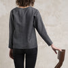 Casual blouse dark grey