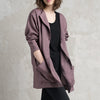 Purple wool jacket by Lovely Home Idea