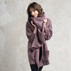 Purple wool women's clothing