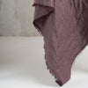 Purple wool shawl with fringe