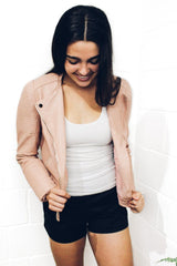 Bobbi Blush Bomber Jacket