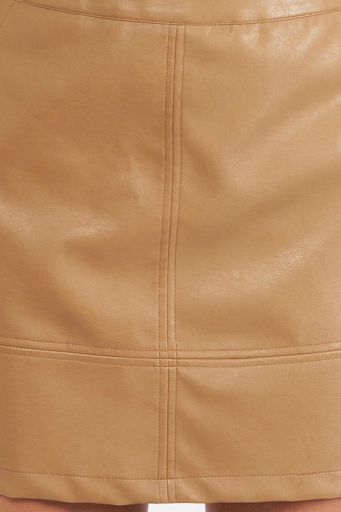 Marley Leather Look Skirt - VV60431
