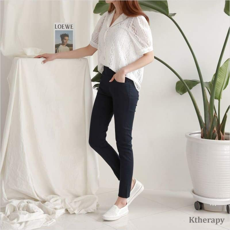 [BACKORDER] [6th RESTOCK] TUMMY BANDING COTTON PANTS - LADY
