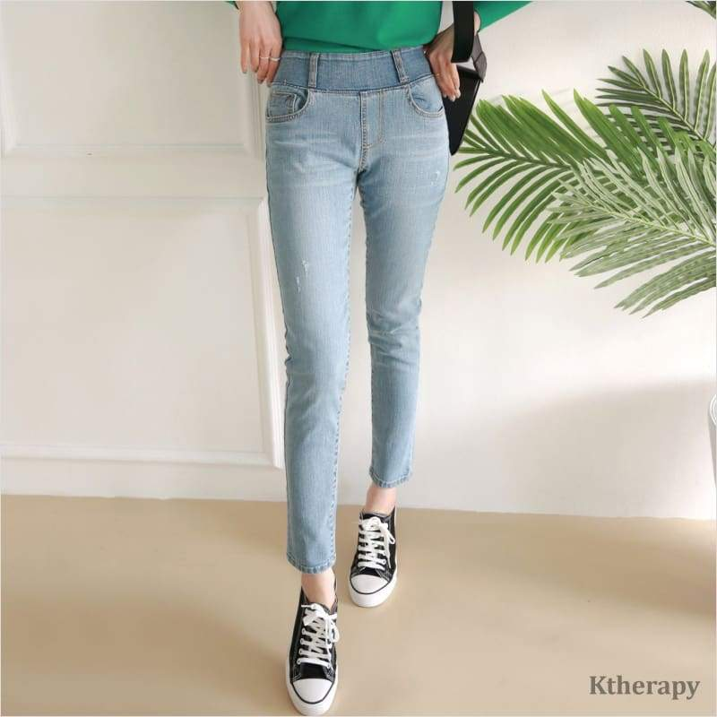 [7th RESTOCK] SKINNY TUMMY BANDING JEANS - K therapy