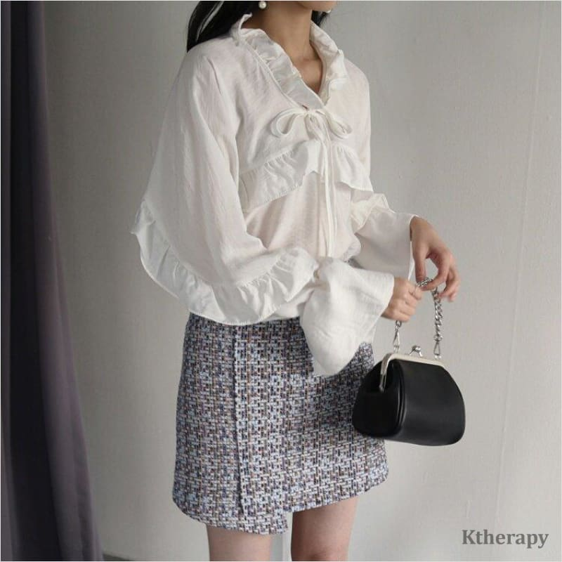 ANGELIC FRILL BLOUSE - K therapy