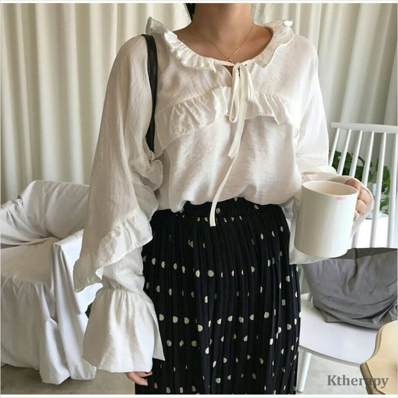 ANGELIC FRILL BLOUSE - LADY