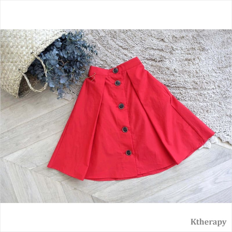 AUSPICIOUS SKIRT - RED - K therapy