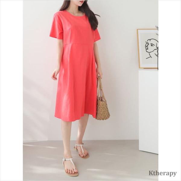 CAMELLIA LINEN DRESS - K therapy