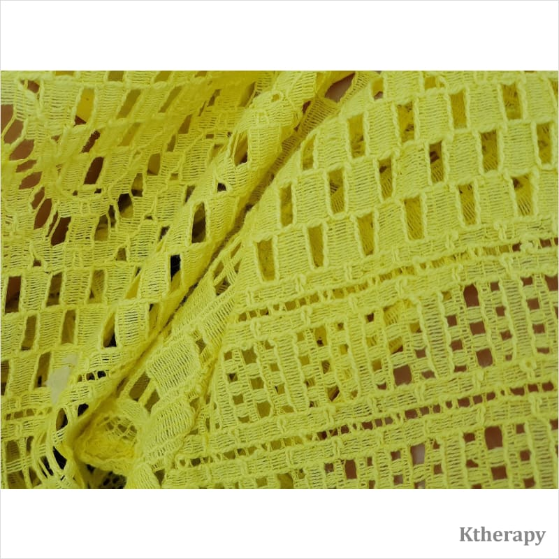 CHEERY LACE SKIRT - YELLOW - K therapy