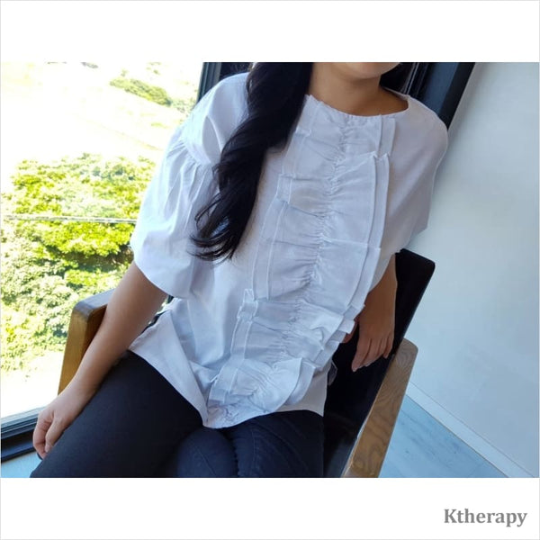 DIVINA FRILL BLOUSE - LADY
