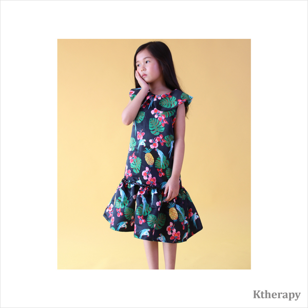 DOODLING TWINNING DRESS - NAVY - K therapy