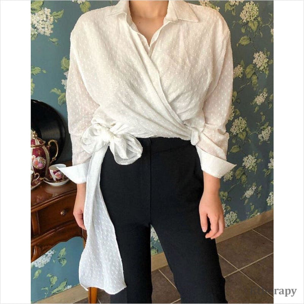 IZZY WRAP BLOUSE - K therapy