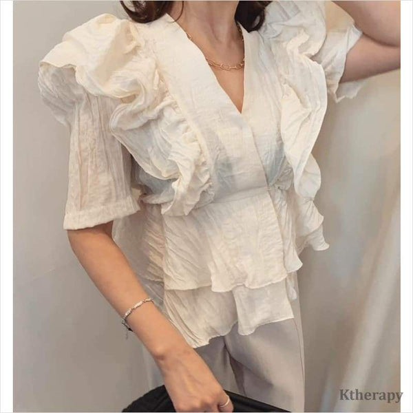 JANET FRILL BLOUSE - K therapy